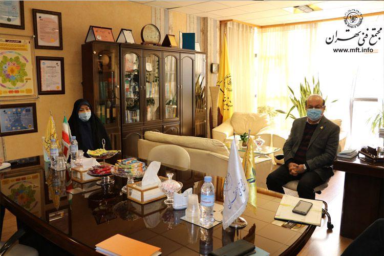 حضور مدیر کارگروه ساماندهی مد و لباس کشور در مجتمع فنی تهران
